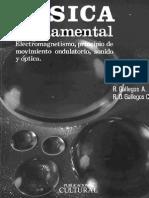 Fisica Fundamental Electromagnetismo, Movimiento Ondulatorio, Sonido y Optica