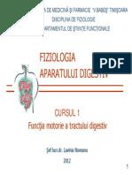 Curs 1 Motilitate 2012-Functia motorie a tractului digestiv