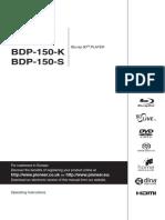 Pioneer Bdp-450 Operating Manual - Eng