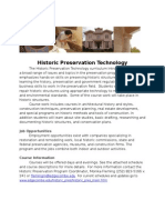 Edgecombe Community College Historic Preservation Technology Overview