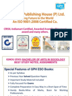 IGNOU (BA IN SOCIOLOGY ) ESO- HELP BOOKS, ASSIGNMENTS