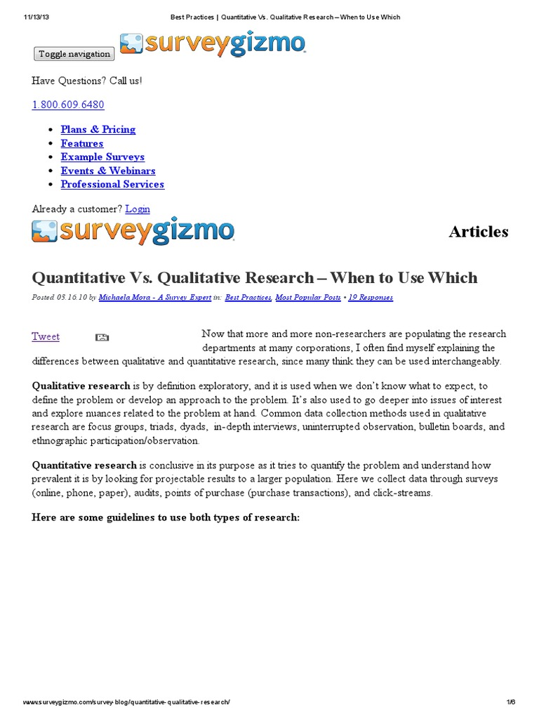 best practices _ quantitative technquis | qualitative research