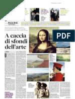 A caccia di sfondi dell'arte - Il Messaggero  del 1 settembre 2014