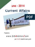 June 2014 Current Affairs