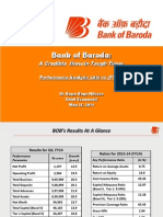 Bank Of Baroda FY 14 Financial Analysis