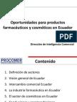Oportunidades Productos Farmaceuticos - Ecuador