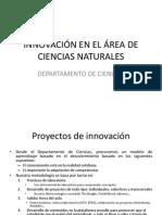 Innovación en El Área de Ciencias Naturales