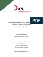 Avaliação de Métricas Nos Meios Sociais Digitais - Pedro Viola & Luciana Karam