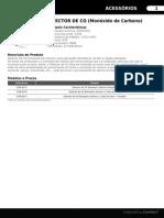 Ficha Técnica DETECTOR de CO (Monóxido de Carbono) - ZANTIA