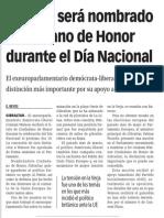 140804 La Verdad Del CGWatson Será Nombrado Ciudadano de Honor Durante El Día Nacional