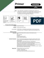 2K Etch Primer-process Data Sheet