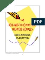 Reglamento Practica Arquitectura