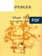 Sperger - Adagio a Dur for DB and String Quartet