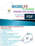 SAP ABAP Online Course Training in Hyderabad | Bangalore | India - Imaginelife