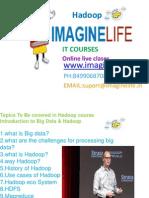 Big Data HADOOP Online Training in Hyderabad | Bangalore | India -  Imaginelife