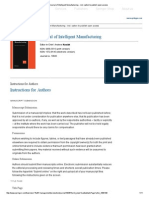 Journal of Intelligent Manufacturing - Incl
