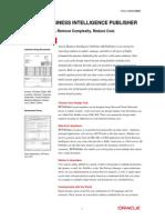 Bi Publisher Data Sheet