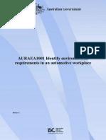 AURAEA1001_R1 - Unit of Competency