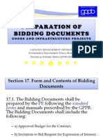 Preparation of Bidding Documents