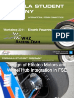 Wheelhub Integration of Electric Motor in FSE