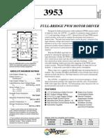 Motor Driver - Full-bridge Pwm- a3953-n5