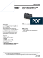 Optical Distance Sensor - GP2Y0D810Z0F Gp2y0d810z_e