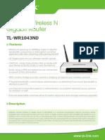 Router Wlan Gbit Tl-wr1043nd_v1_ Datasheet