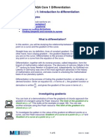 Introduction to Differentiation