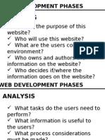 Web Development Phases