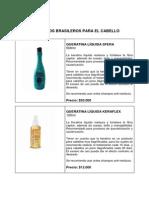 Productos de Brasil Para El Cabello