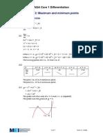 Maximum & Minimum Points - Solutions