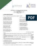 subiecte concurs lb romana2013