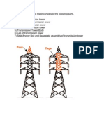 A Power Transmission Tower Consists of the Following Parts
