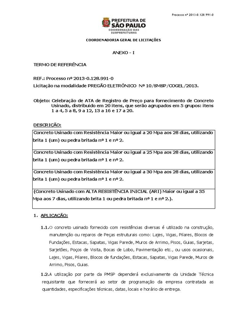 12a9bb21f Termo de Referncia - Concreto Usinado 1382468678