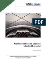 Markenrecherchen - Länderübersicht - infobroker.de Recherchedienste