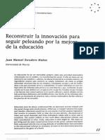 Escudero_reconstruir La Educacion