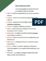 outcome verbs