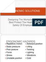 Erogonomics Solutions for the Designing of the Workplace