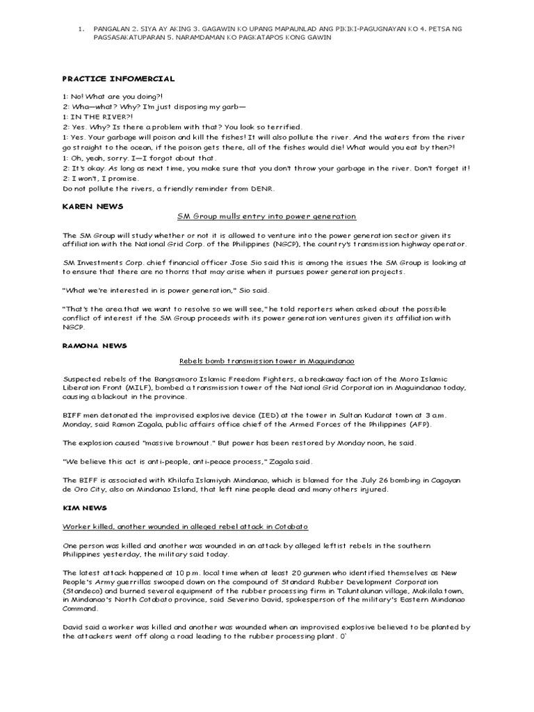 Fm radio program script.