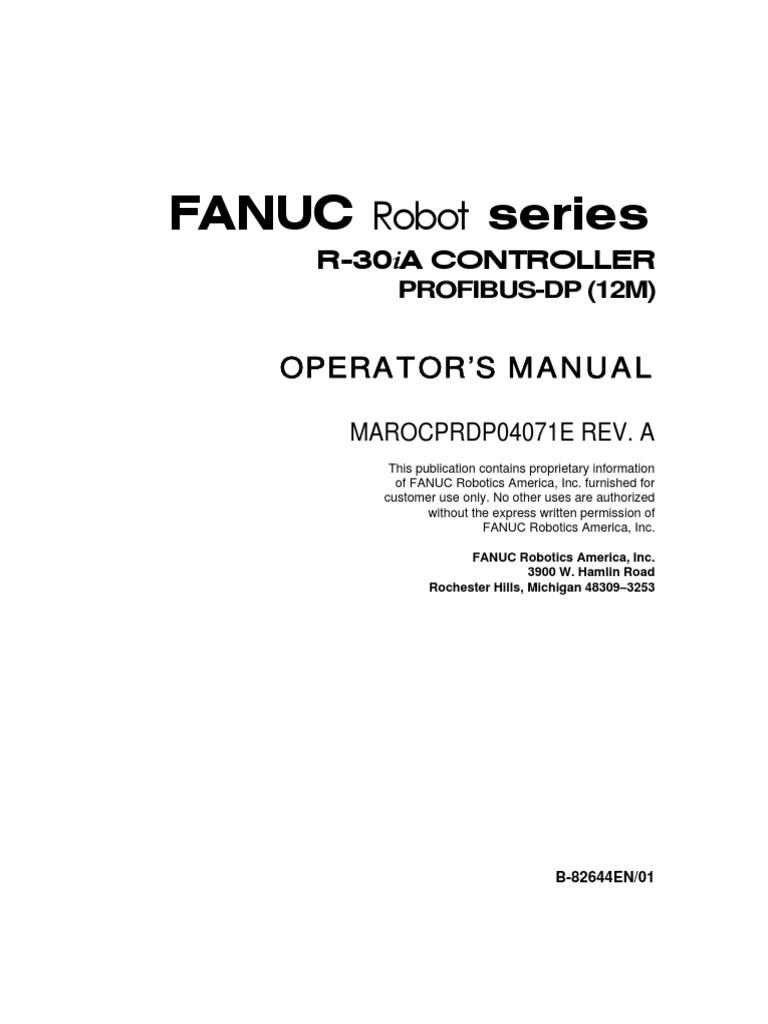 fanuc profibus manual robot technology rh scribd com Fanuc R-30iA Controller Fanuc Robot Controller