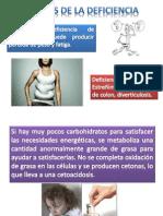 Efectos de La Deficiencia y Execeso de Carbohidratos