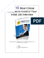 10 Critical Mistakes to Avoid at the Job Interview