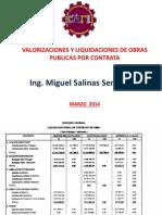 Material Del Curso de Valorizaciones y Liquidaciones de Obras Públicas