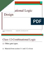 Lect 12 - Combinational Logic Design