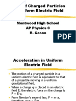 Motion of Charged Particles in a Uniform Electric