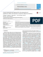 A Green Hydrothermal Approach for the Preparatio