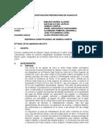 Sentencia Habeas Corpus 2014