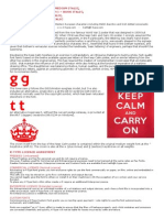 Keep Calm Font History