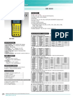 DER EE DE-5000 LCR Meter Specifications