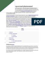 Escrutinio proporcional plurinominal